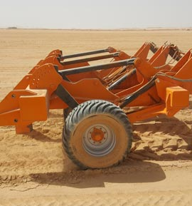 Photo of the Brock Deep Ripp in the North African desert